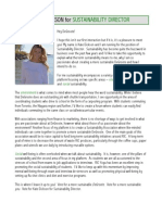 Kate Dickson for Sustainability Director