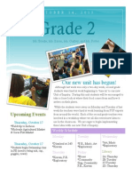 second grade newsletter 10-14