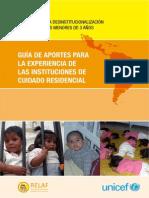 Guia desinstitucionalización 0 a 3 RELAF & UNICEF