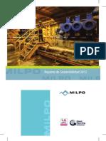Reporte Sostenibilidad Milpo 2012