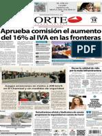 Periódico Norte de Ciudad Juárez 14 de Octubre de 2013