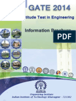 GATE 2014 Admission Information Brochure - Aryan Classes