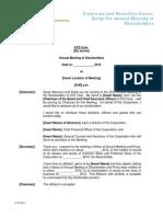 Script for Annual Mt g of Shareholders