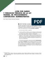 La indemnización por daños y perjuicios prevista en la Ley Federal de Procedimiento Contencioso Administrativo