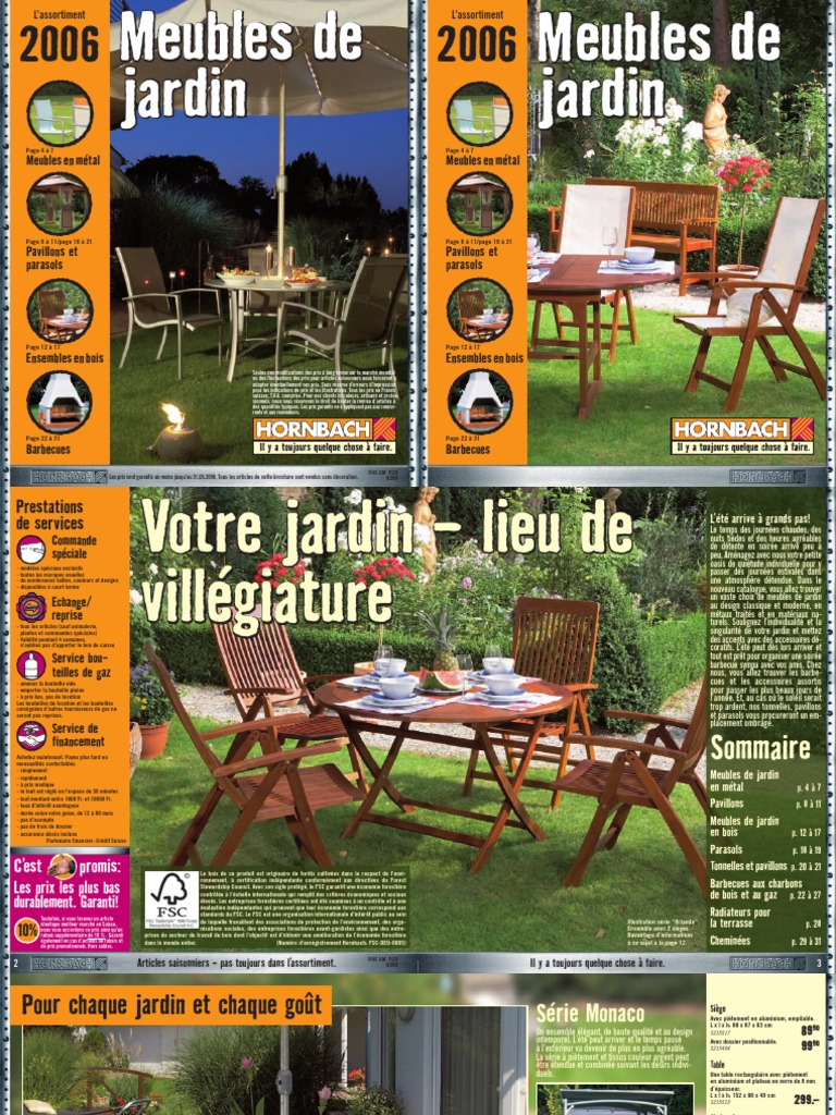 HORNBACH FR Sh2006 Meubles de Jardin | Charbon | Conseil de ...