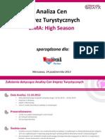 Analiza Cen Imprez Turystycznych (14.10.13)