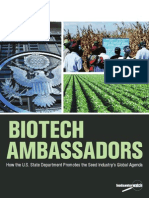 Biotech Report US - How the US state department promotes the Seed's Industry global agenta