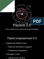 Pazienti 2.0. Temi e relazioni di una community di pazienti diabetici