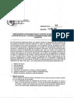 Precauciones Estandares Para El Control de IAAS y Aislamiento de Pacientes MINSAL 2013