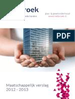 Rietbroek maatschappelijk verslag 2013