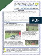 Welcome Back September Newsletter 2013 Shotton Primary School