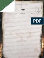 Only War Squad Sheet