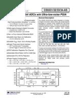 Cirrus Logic CS5532 ASZ Datasheet