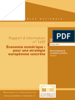Rapport d'information sur la stratégie numérique de l'Union européenne