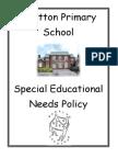 SEN Policy at Shotton Primary School