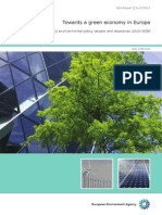 """Towards a green economy in Europe """"- EU environmental policy targets and objectives 2010…-2050. EEA Report No 8/2013. EEA (European Environment Agency). Published"""