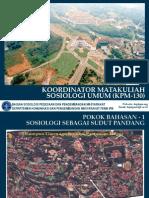 PB 1 - Sosiologi Sebagai Sudut Pandang