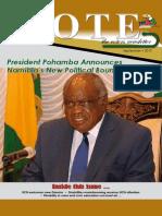 Vote - The Namibian Voter's Newsletter - September 2013 edition.