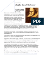 Shakespeare Boost to Brain Article