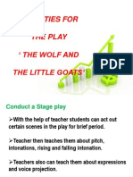 Activities for the Play