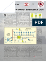 Automatic Lower Power Emergency Light