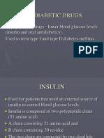 DRUGS FOR DIABETES