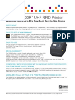 Zebra ZD500R RFID Printer Data Sheet