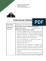 Resume Indra Kumar Maharjan