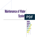 Maintenance of Water System