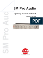 SM PRO AUDIO OC8 optical compressor Manual