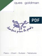 Partitions Goldman - Chansons pour les pieds.pdf