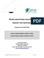 2014-15 SRI AmeriCorps State Request For Proposals