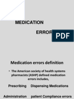Medication Errors /PHARMACY