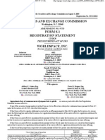 World Space Inc Registration Statement 333-124044 to SEC