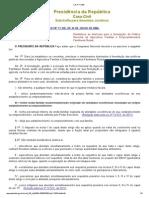 Lei Federal Nº 11.326 de 2006 - Política Nacional da Agricultura Familiar