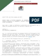 Lei Ordinária consolidada de Florianópolis_SC, nº 7474_2007 de 19_11_2007 PolMunSan