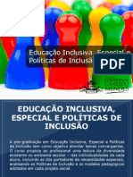 Pós Educação Inclusiva, Especial e Políticas de Inclusão - Grupo Educa+ EAD