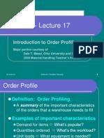 Order Profiling