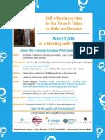 2013 elevator pitch flyer