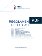 Regolamento Gare Agg. CF 25 Settembre 2013