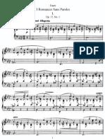 Faure Op.17 Romances Sans Paroles