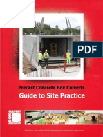 Guide to Site - Box culvert