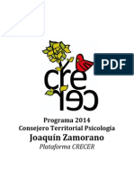 Programa 2014 CT Joaquín Zamorano