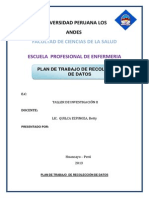 Plan de Recoleccion d Datos
