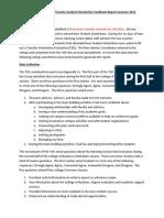 transfer orientation feedback report summer 12