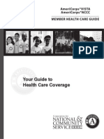 AmeriCorps Vista NCCC Healthcare Guide