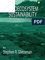 Gliessman 2001. Agroecosystem Sustainability