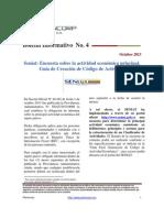 Boletin Informativo Seniat Clasificador de Actividades. Octubre 2013