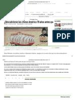 ¿Descubrieron los chinos América 70 años antes que Colón_ – RT