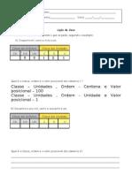 classe, ordem e valor posicional - 4º ano